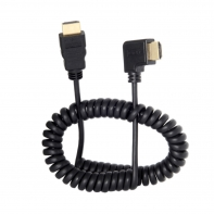 90 Degree Right Angled HDMI to HDMI Stretch Spring Cable for HDTV DVB DVD PC 1.2m