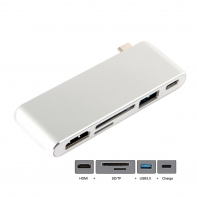 Type-C USB-C to HDMI & USB3.0 OTG & SD TF Card & Power For Laptop & Macbook