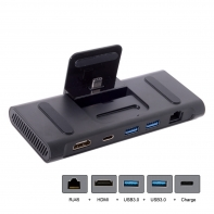 USB 3.1 Type-C USB-C Dock Station to HDMI & Two 3.0 Hub & Ethernet & Power For S8 S9 Mate10 P20