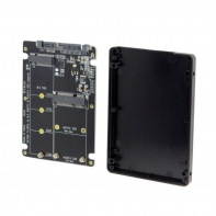 2 in 1 Combo M.2 NGFF B-key & mSATA SSD to SATA 3.0 Adapter Converter Case Enclosure