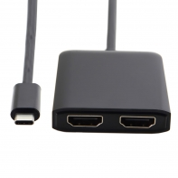 USB-C USB 3.1 Type C to Dual HDMI 4K 30HZ Adapter for Laptop & Macbook & Monitor HDTV