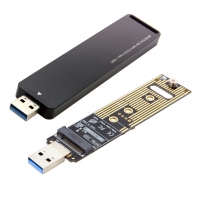 USB 3.0 to NVME M-key M.2 NGFF SSD External PCBA Conveter Adapter with Flash Disk Case