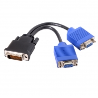 DMS-59pin Male to Dual 15Pin VGA RGB Female Splitter Extension Cable for PC Graphics Card