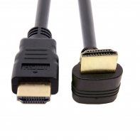 90 Degree Down Angled Type HDMI 1.4 Male to HDMI Male Cable Support 3D & Ethernet 50cm