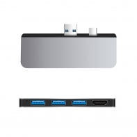 Mini Displayport DP & USB3.0 to HDMI & USB3.0 OTG & Dual TF Card Reader Adapter for Surface 4/5/6