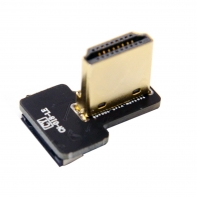 CYFPV HDMI Type A Male Connector Left & Right Angled 90 Degree for FPV HDTV Multicopter Aerial Photography