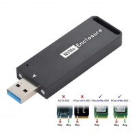 USB 3.1 Gen2 10Gbps to NVME PCI-E M-Key Solid State Drive External Enclosure 2230/2242mm