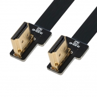 CYFPV Dual 90 Degree Left Angled HDMI Type A Male to Male HDTV FPC Flat Cable for FPV HDTV Multicopter Aerial Photography