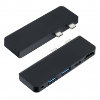 Dual Type-C USB-C to HDMI & Dual USB3.0 OTG & PD Power Adapter for Surface Pro X